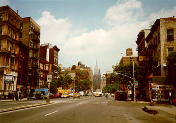 View on Bowery Street