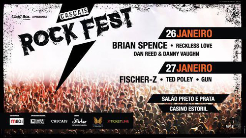 Ted Poley : Cascais Rock Fest - January 27, 2018