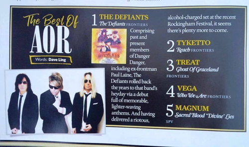 Classic Rock Magazine - The Best f AOL 2016 #1 The Defiants