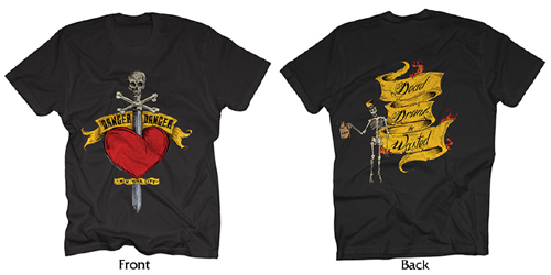 Danger Danger Heart and Dagger NYC Tour T-Shirts