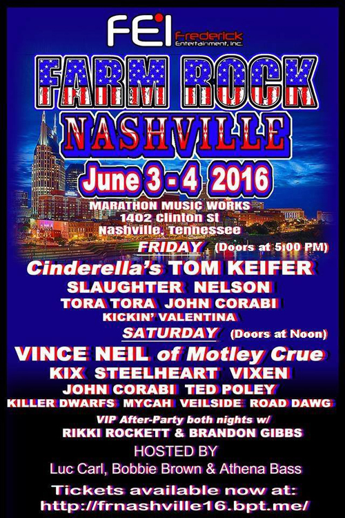 Ted Poley at Farm Rock Nashville, Nashville, TN : Jun. 4, 2016 - Poster
