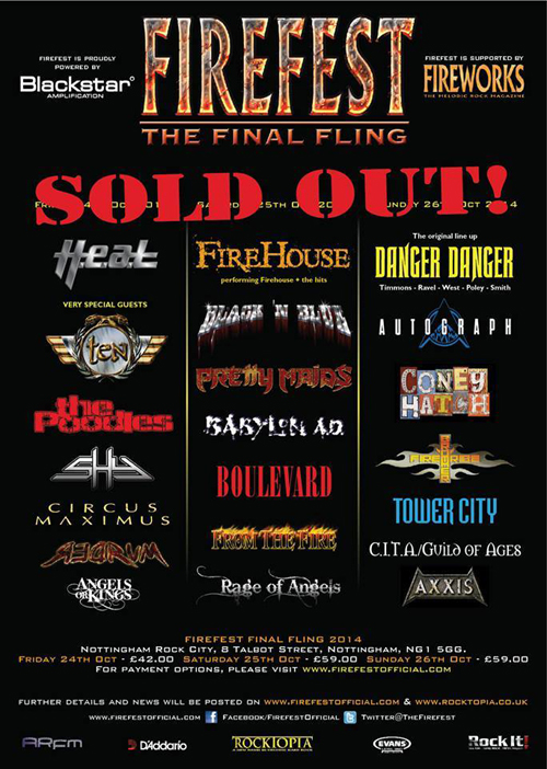 """Firefest - The Final Filing"" SOLD OUT!!!"
