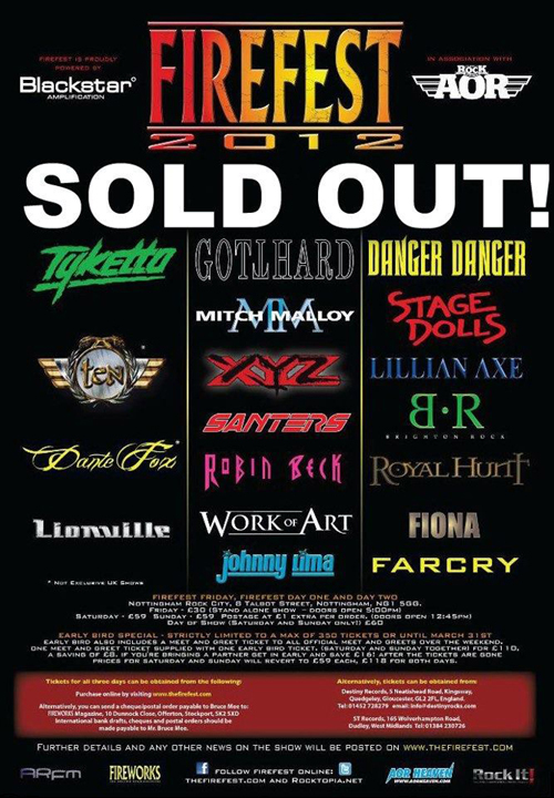 """Firefest 2012"" SOLD OUT!!!"