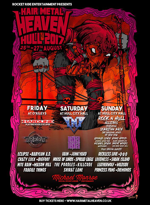 Hair Metal Heaven 2017 : Poster