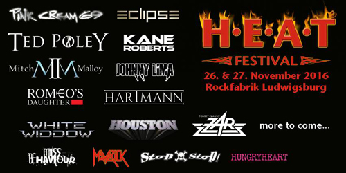 Ted Poley at H.E.A.T. Festival, Ludwigsburg, Germany : November 26・27