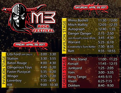M3 Festival 2017 Time Table