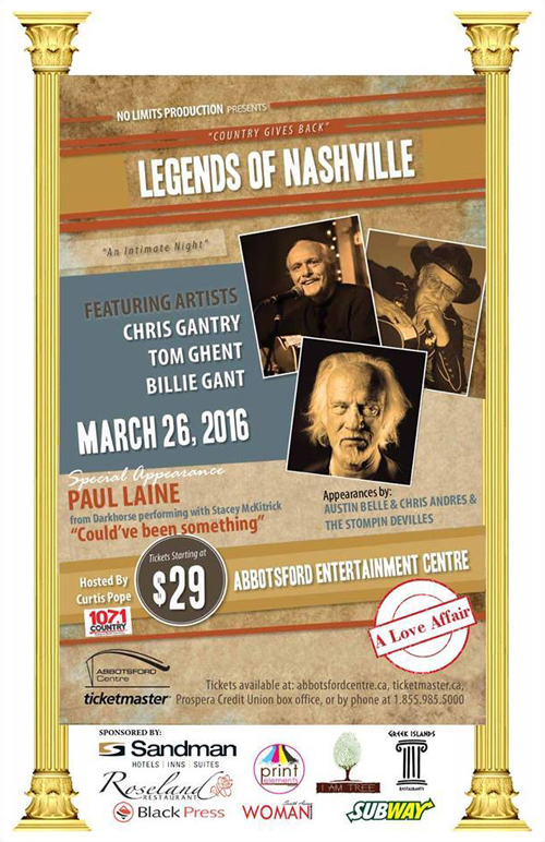 Legends Of Nashville : March 26, 2016