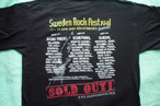 Sweden Rock Festival T-Shirt (Back)
