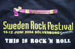 Sweden Rock Festival T-Shirt (Front) & June 12 Tag
