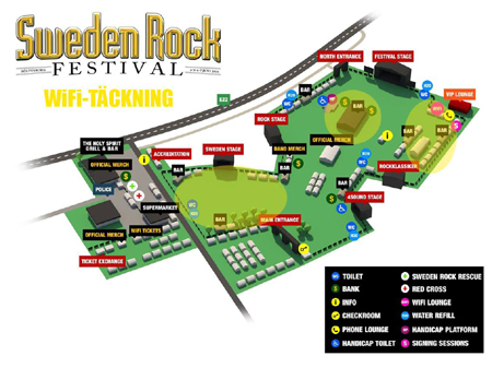 Danger Danger at Sweden Rock Festival 2014 in Solvesborg, Sweden #1 : Venue Map