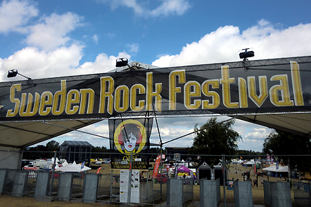 Danger Danger at Sweden Rock Festival 2014 in Solvesborg, Sweden #2 : Main Entrance
