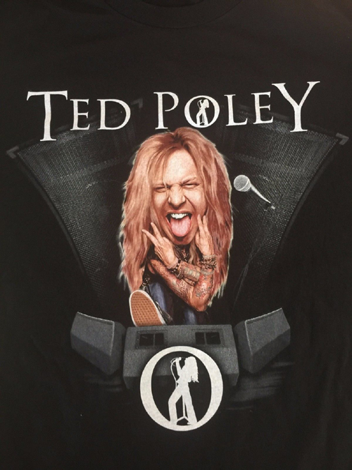 Front : 2017 Limited Edition Ted Poley World Tour Concert T-Shirt