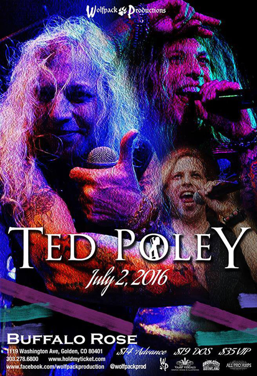 Ted Poley at Buffalo Rose in Golden, CO : Jul. 2, 2016 - Poster
