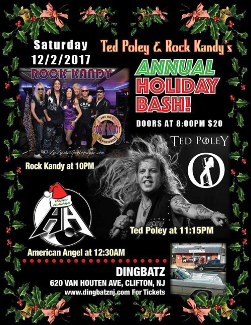 Ted Poley : at Dingbatz in NJ - December 2, 2017