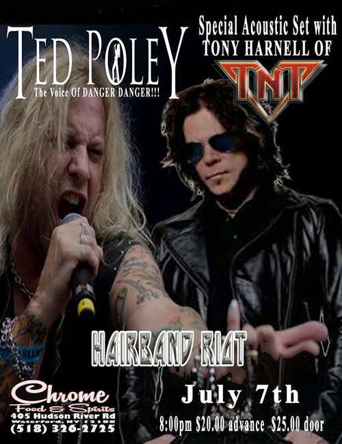 Ted Poley : Waterford, NY - July 7, 2018