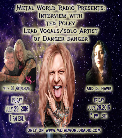 Ted on Metal World Radio, July 29, 2016