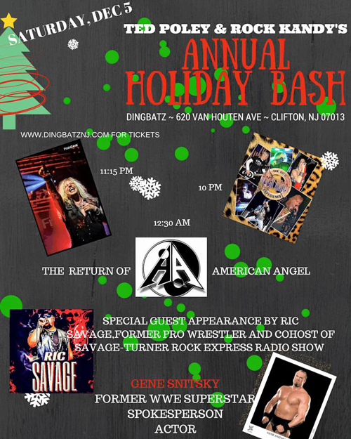 Ted Poley : Annual Holiday Bash in NJ, Dec. 5, 2015 - Poster