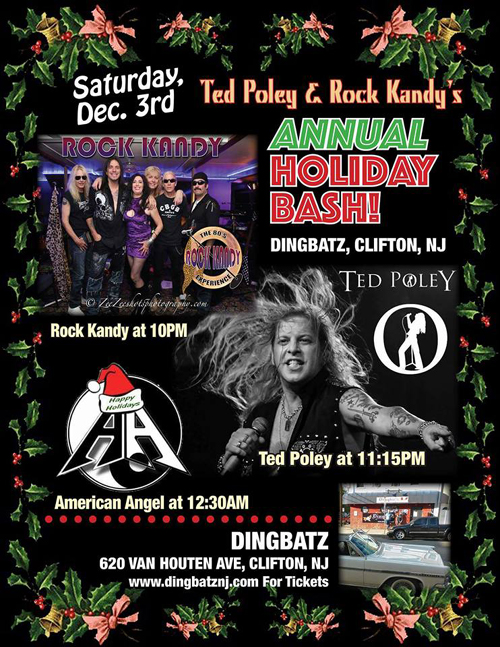 Ted Poley : Annual Holiday Bash in NJ, Dec. 3, 2016 - Poster