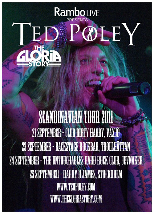 """Ted Poley Band Scandinavian Tour 2011"" Poster"